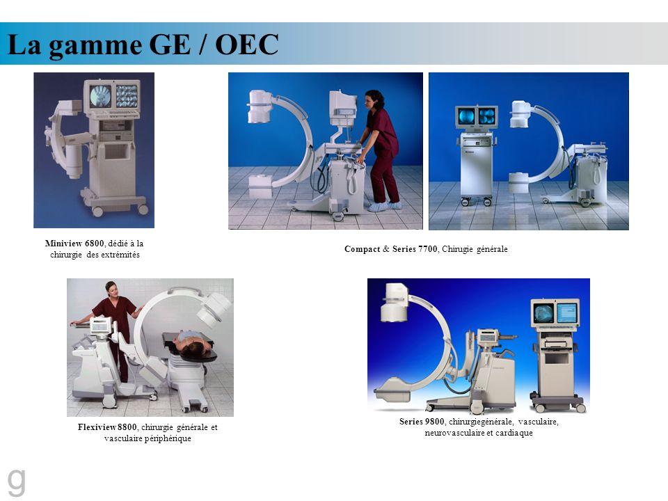 g La gamme GE / OEC Miniview 6800, dédié à la chirurgie des extrémités