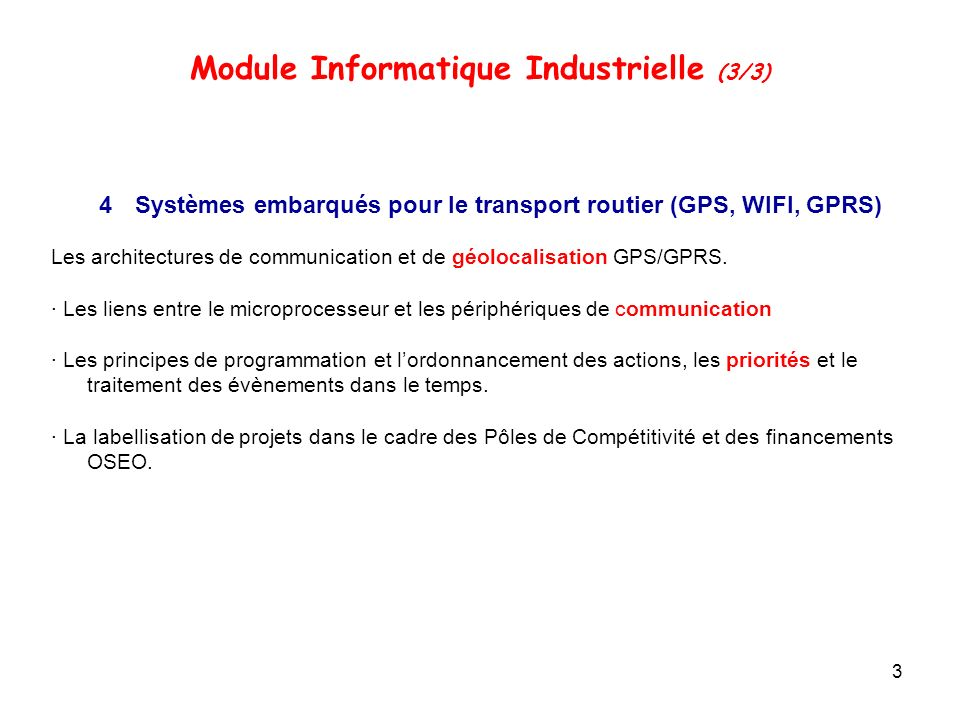 Module Informatique Industrielle (3/3)