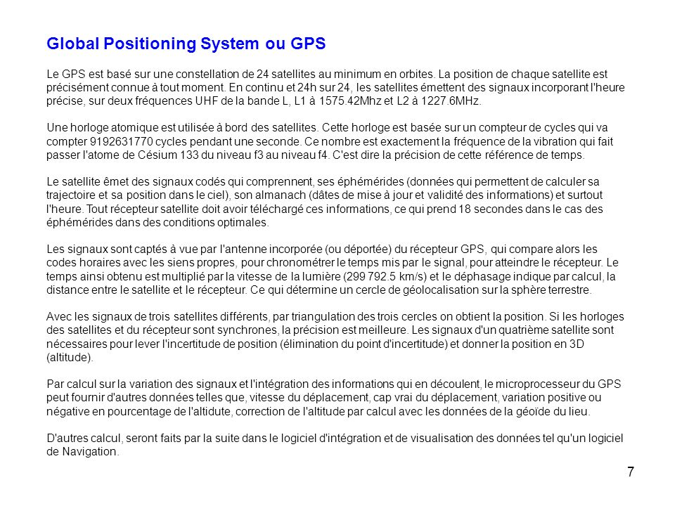 Global Positioning System ou GPS