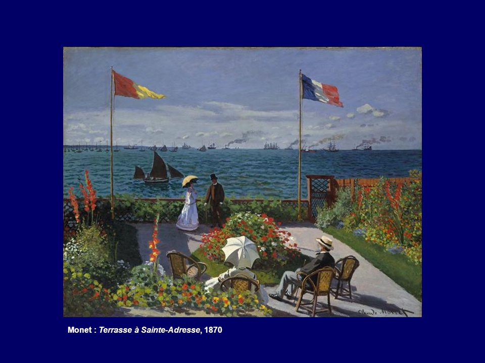 Monet : Terrasse à Sainte-Adresse, 1870