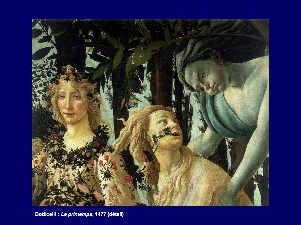 Botticelli : Le printemps, 1477 (détail)