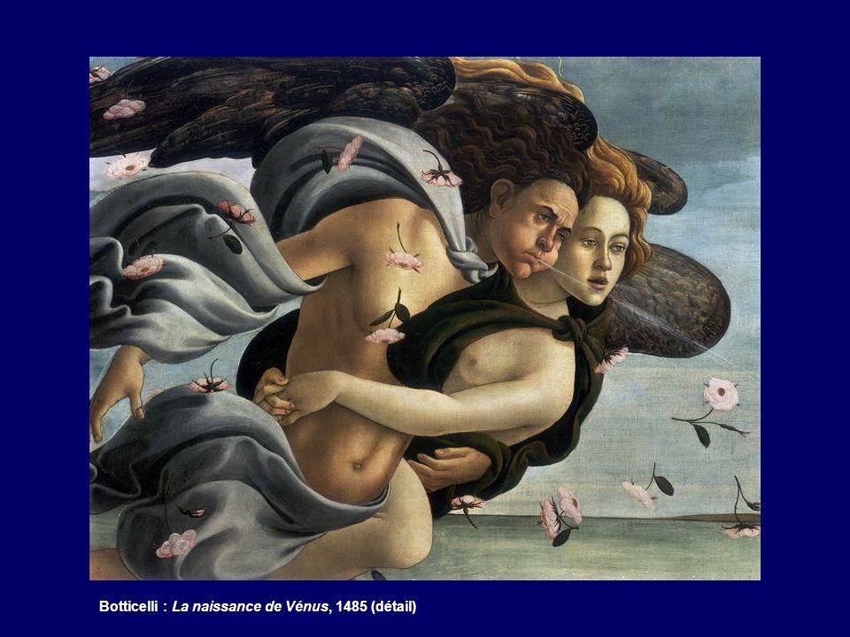 Botticelli : La naissance de Vénus, 1485 (détail)