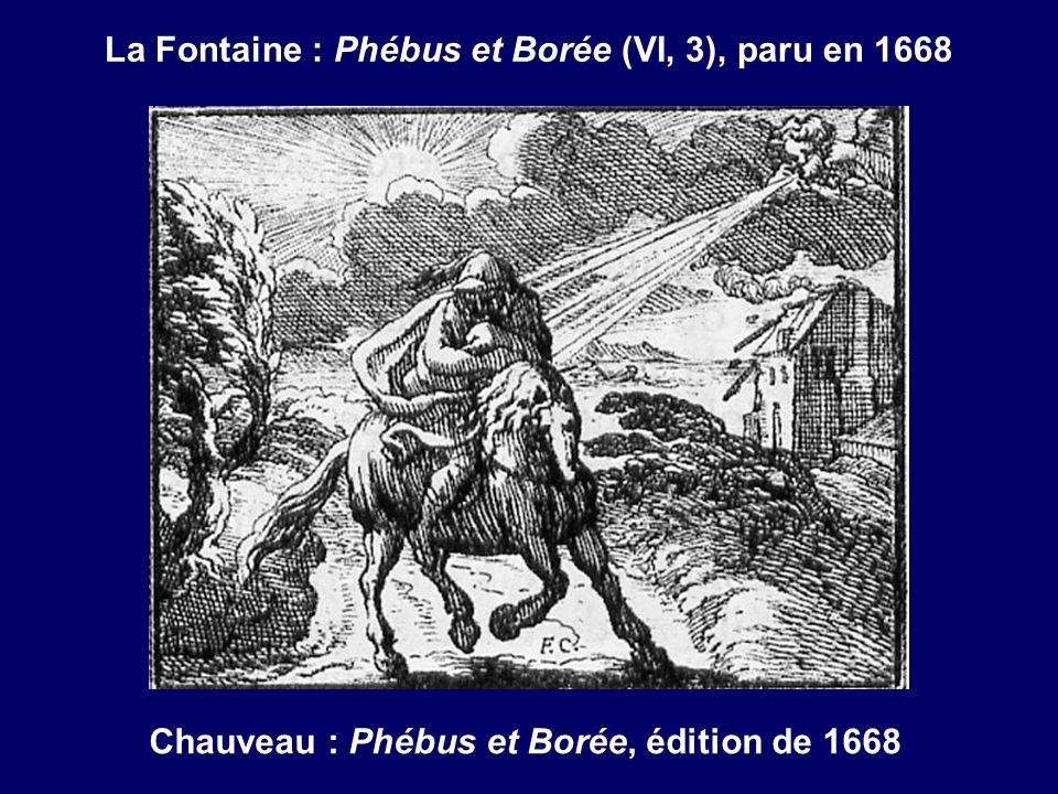 La Fontaine : Phébus et Borée (VI, 3), paru en 1668