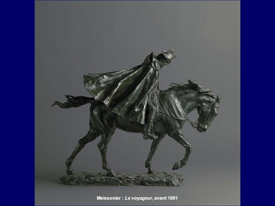 Meissonier : Cavalier dans l'orage, 1879