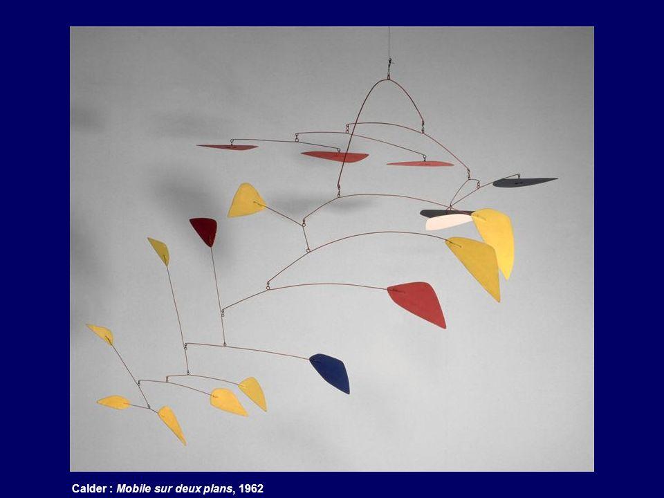 Calder : Mobile sur deux plans, 1962