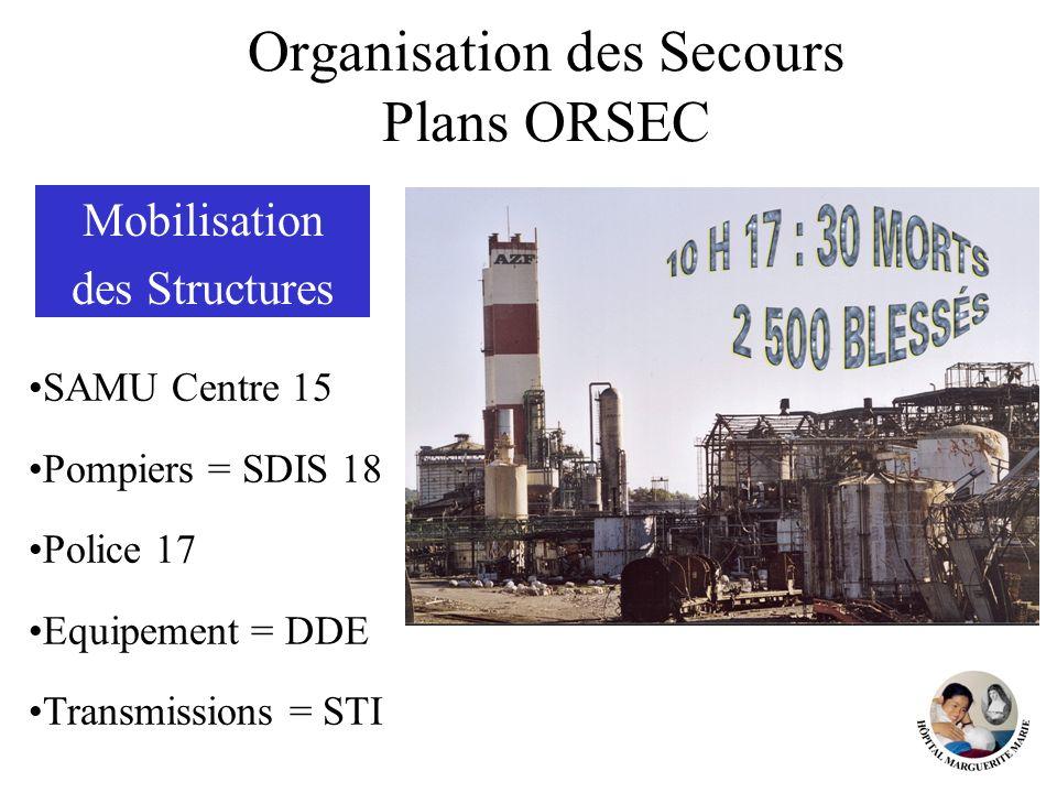 Organisation des Secours Plans ORSEC