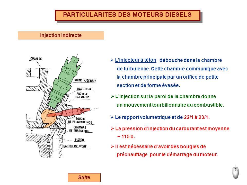PARTICULARITES DES MOTEURS DIESELS