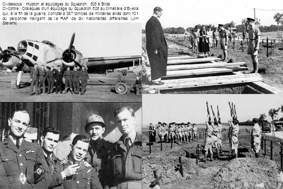 Ci-dessous : Hudson et équipages du Squadron 608 à Blida