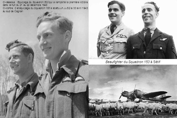 Beaufighter du Squadron 153 à Sétif