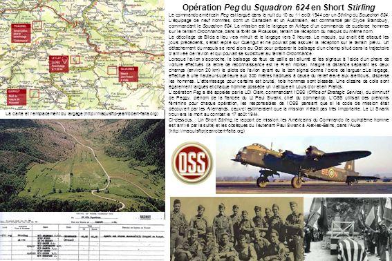 Opération Peg du Squadron 624 en Short Stirling