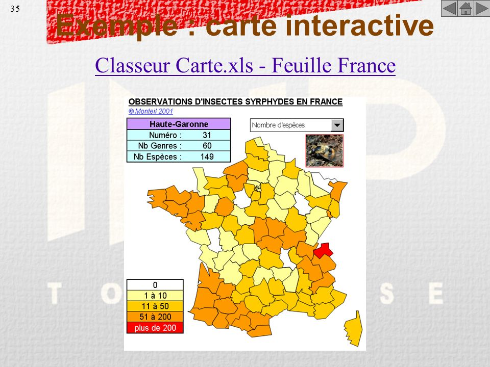 Exemple : carte interactive