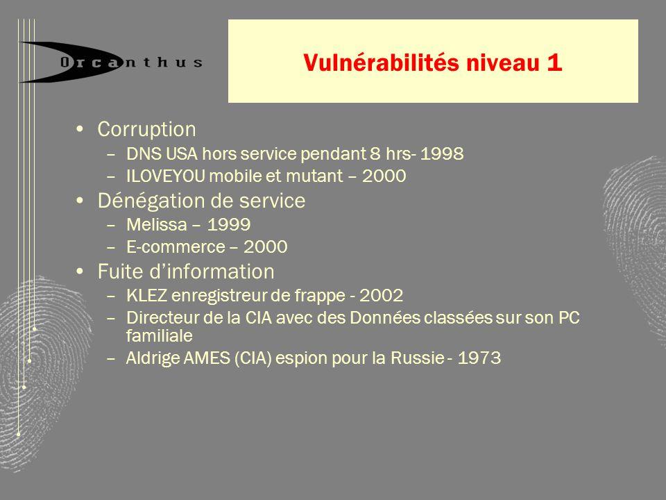 Vulnérabilités niveau 1