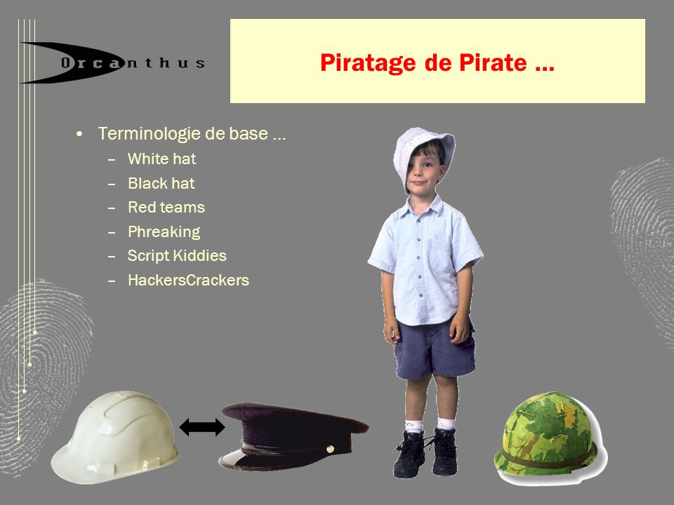 Piratage de Pirate … Terminologie de base … White hat Black hat