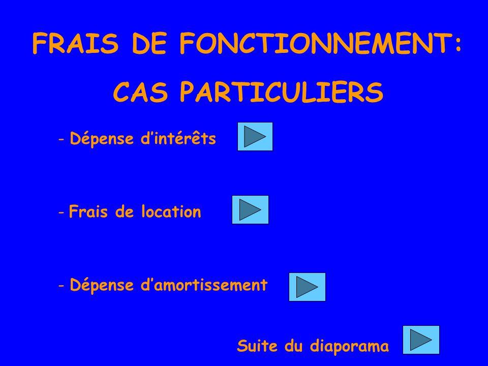 FRAIS DE FONCTIONNEMENT: