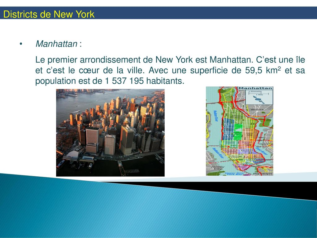 Districts de New York Manhattan :