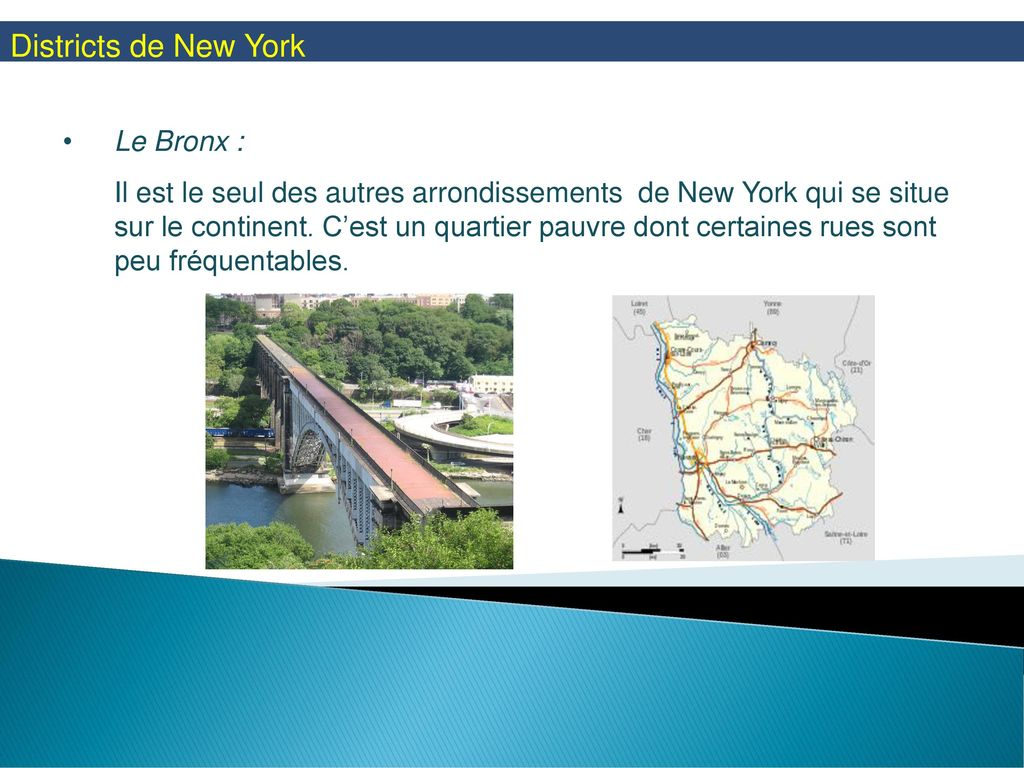Districts de New York Le Bronx :