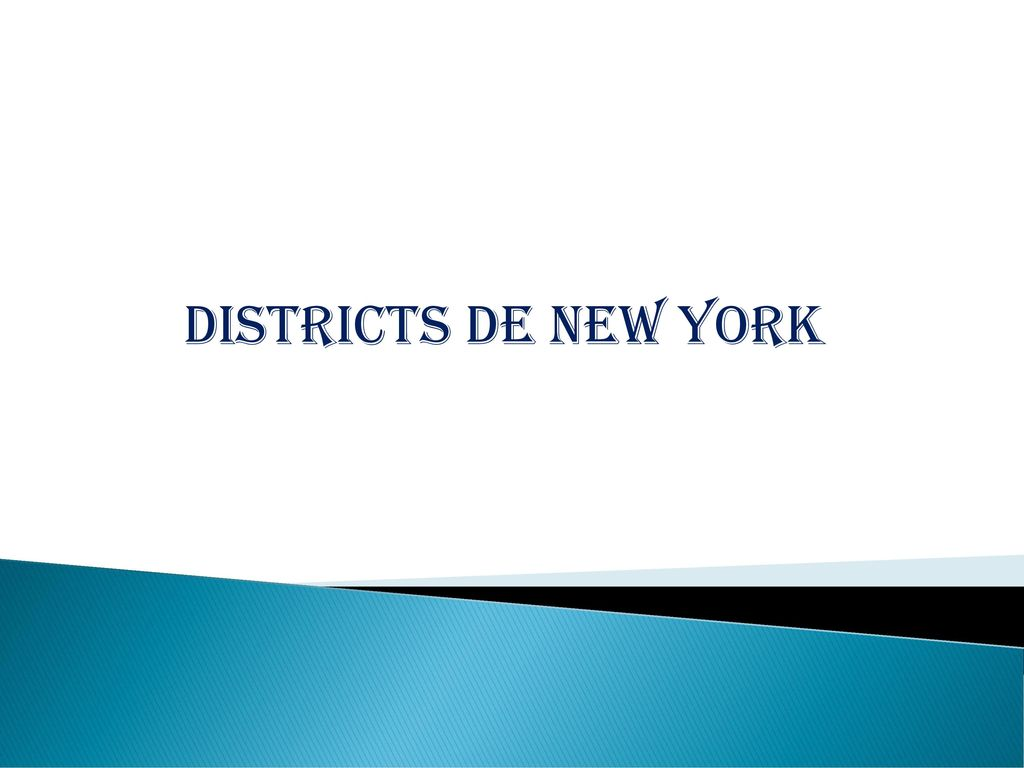 Districts de new york