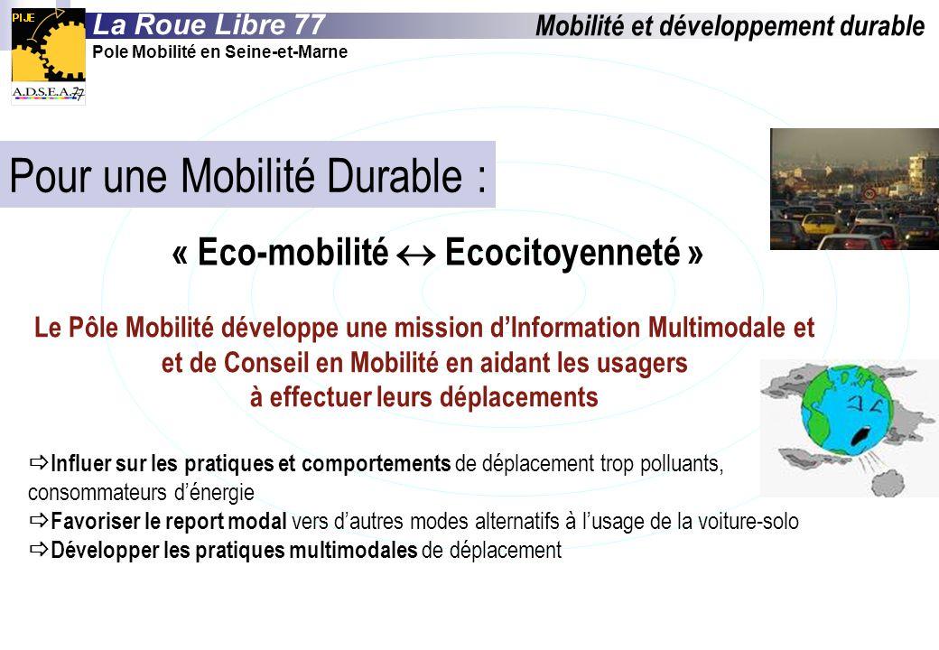 Pour une Mobilité Durable :