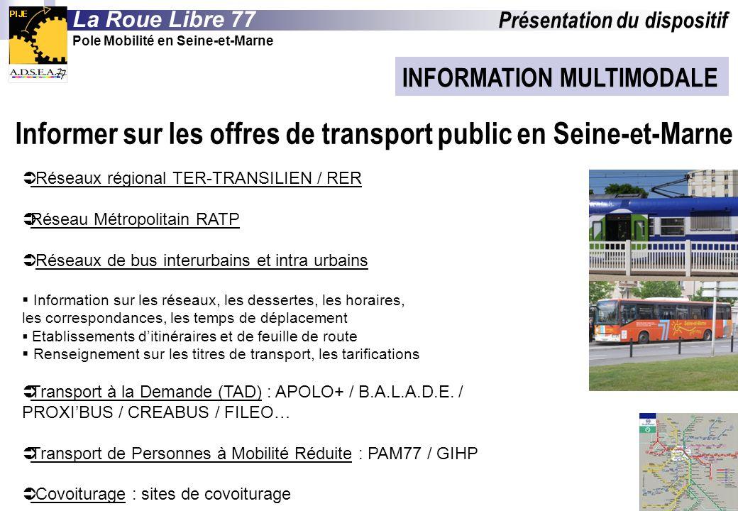 Informer sur les offres de transport public en Seine-et-Marne