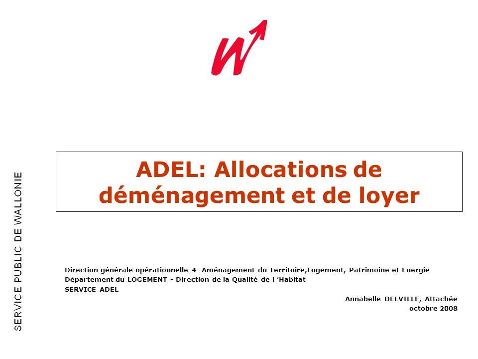 ADEL: Allocations de déménagement et de loyer