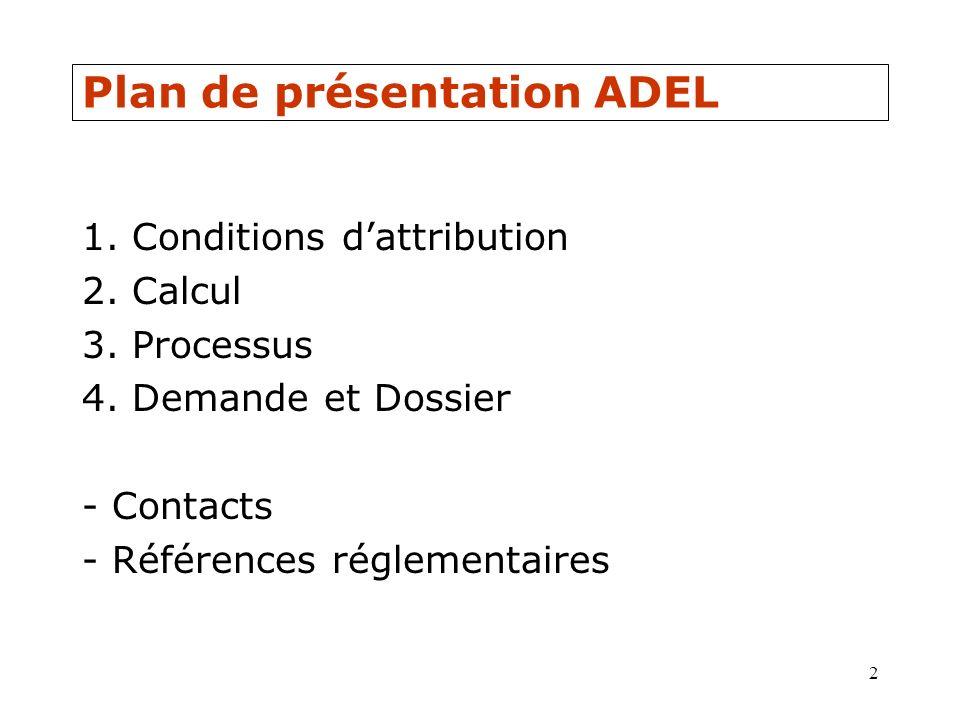 Plan de présentation ADEL