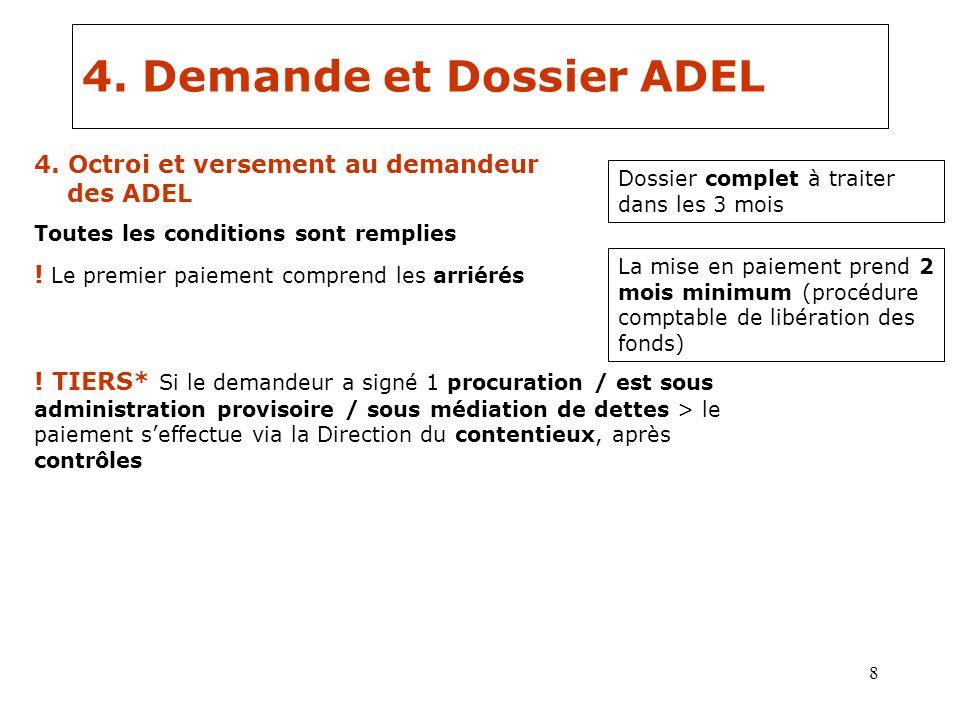 4. Demande et Dossier ADEL