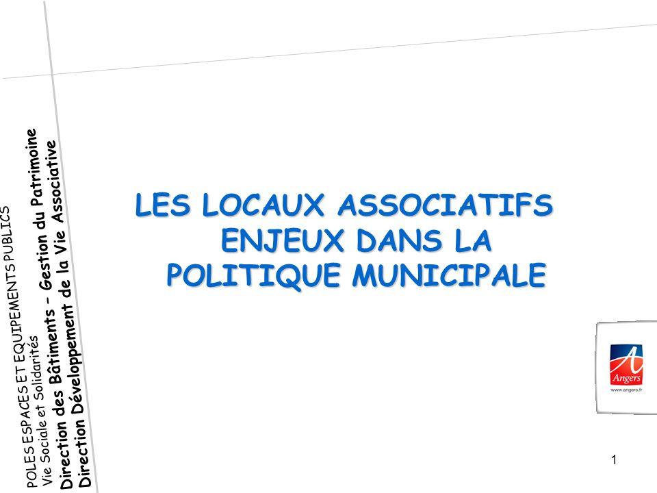 LES LOCAUX ASSOCIATIFS ENJEUX DANS LA POLITIQUE MUNICIPALE