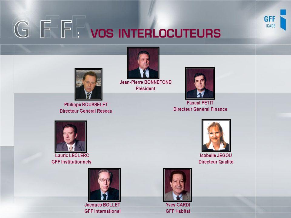 : VOS INTERLOCUTEURS Jean-Pierre BONNEFOND Président