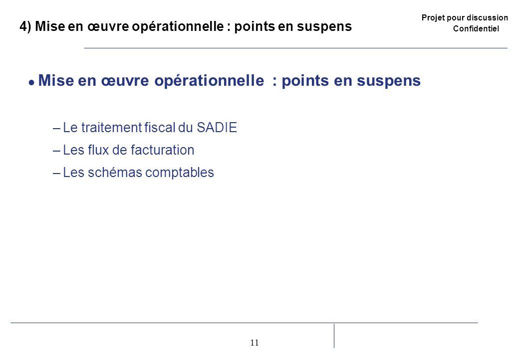 4) Mise en œuvre opérationnelle : points en suspens