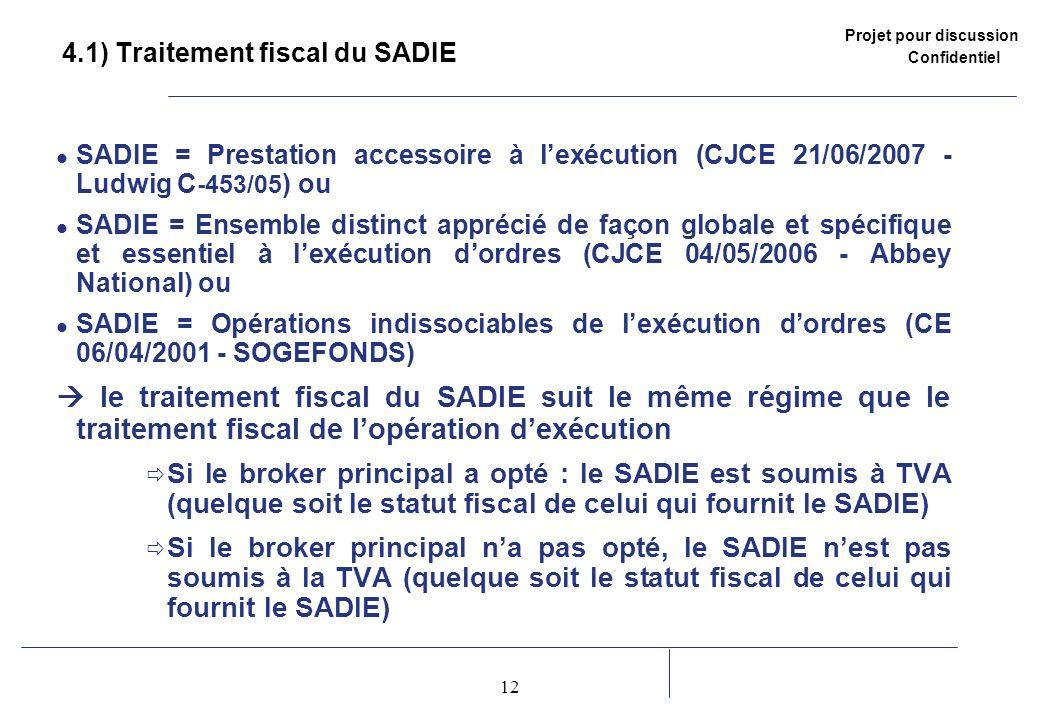 4.1) Traitement fiscal du SADIE