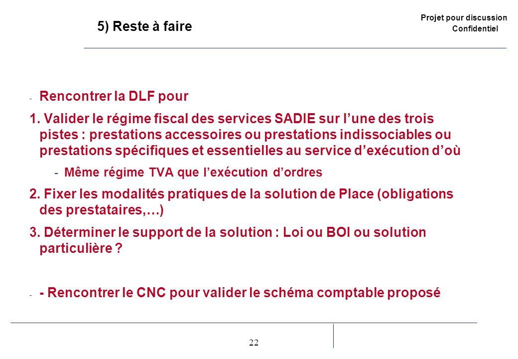 - Rencontrer le CNC pour valider le schéma comptable proposé