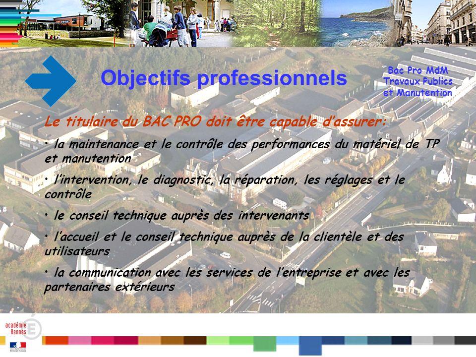 Bac Pro MdM Travaux Publics et Manutention