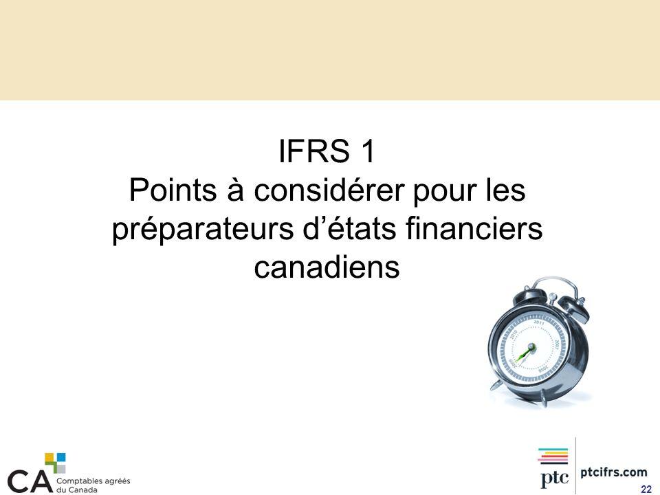 Points à considérer pour les préparateurs d'états financiers canadiens
