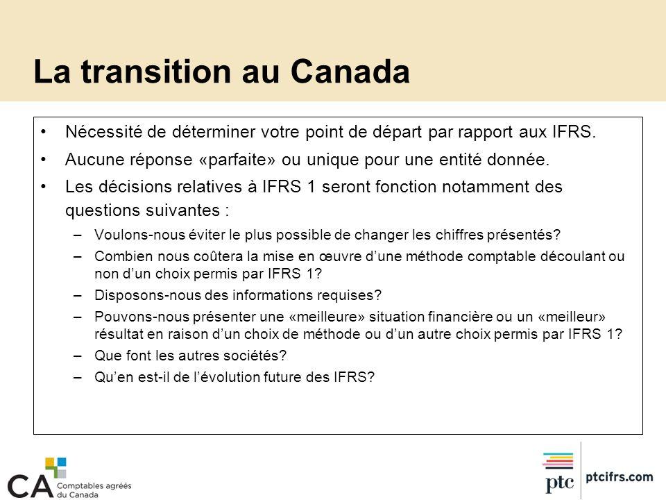La transition au Canada