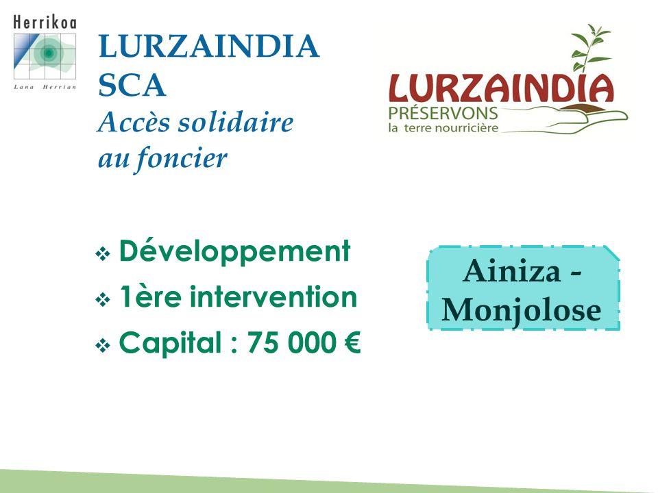 LURZAINDIA SCA Ainiza - Monjolose Accès solidaire au foncier