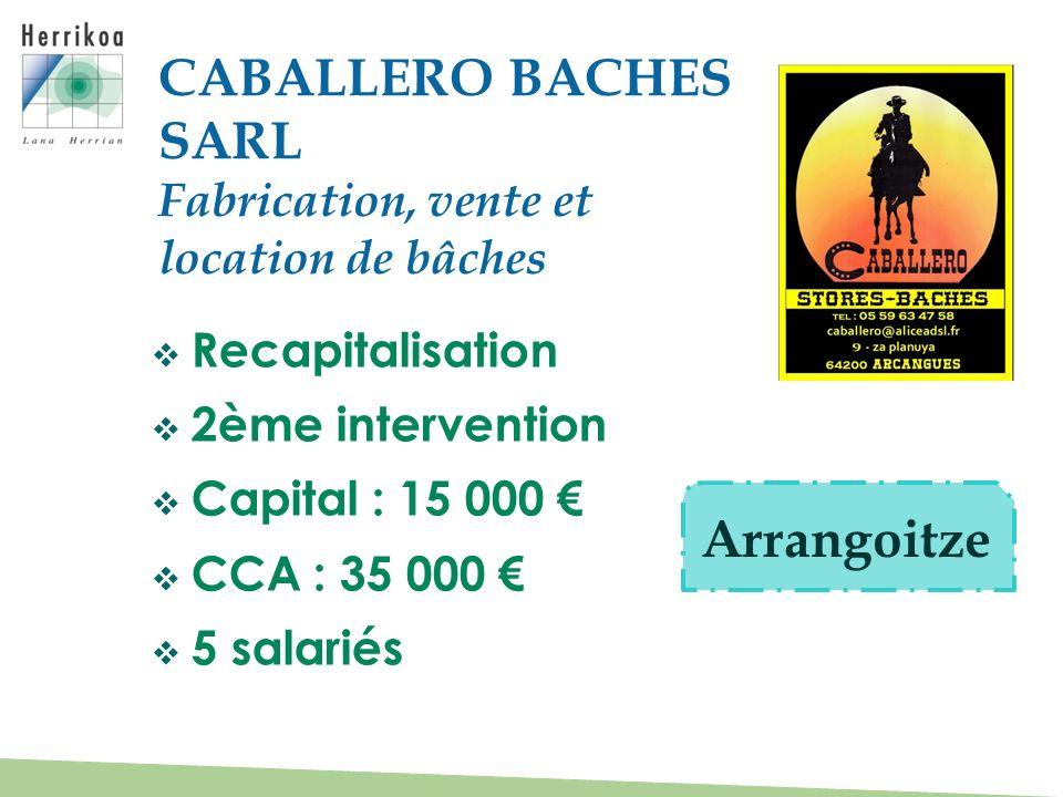 CABALLERO BACHES SARL Arrangoitze Fabrication, vente et