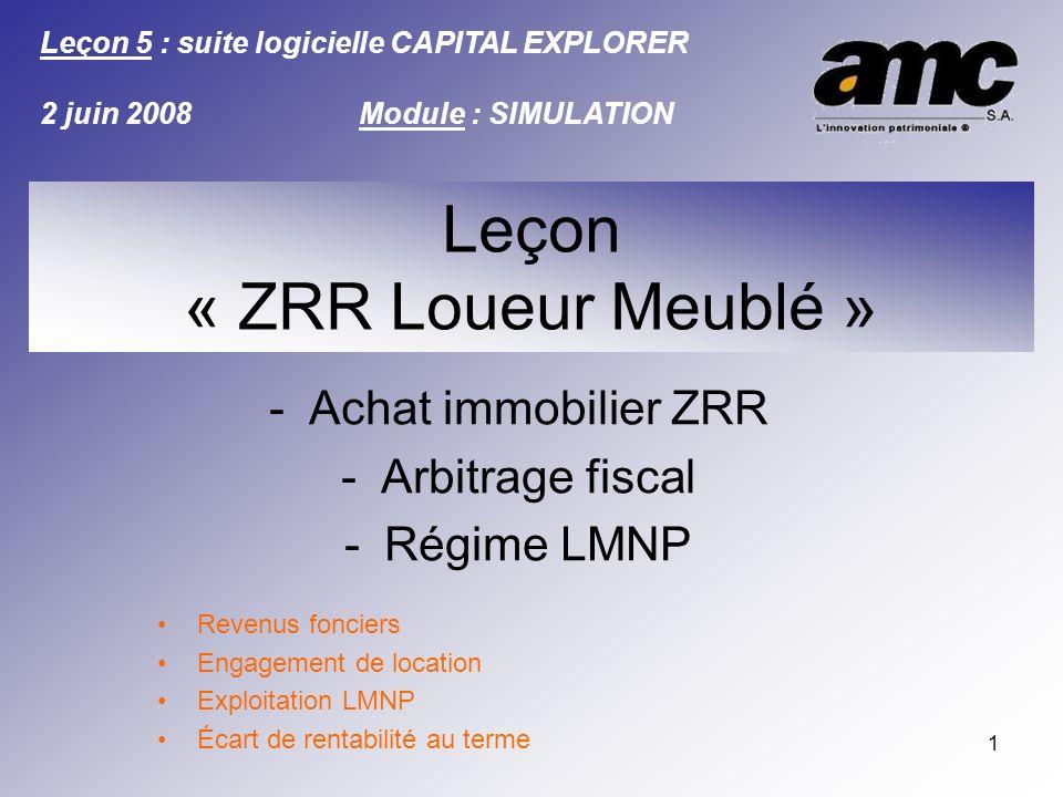 Leçon « ZRR Loueur Meublé »