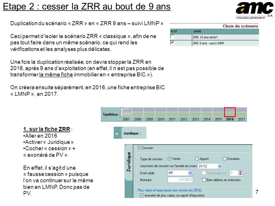 Etape 2 : cesser la ZRR au bout de 9 ans