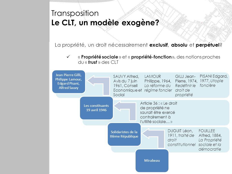 Le CLT, un modèle exogène