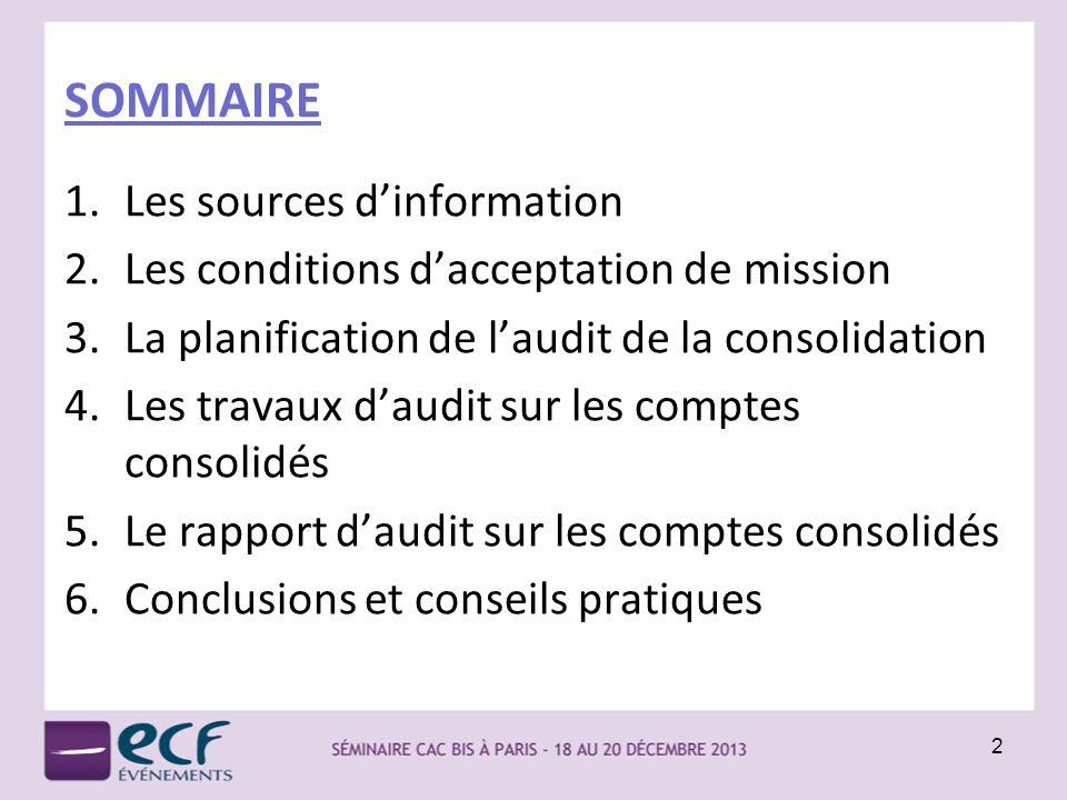 SOMMAIRE Les sources d'information