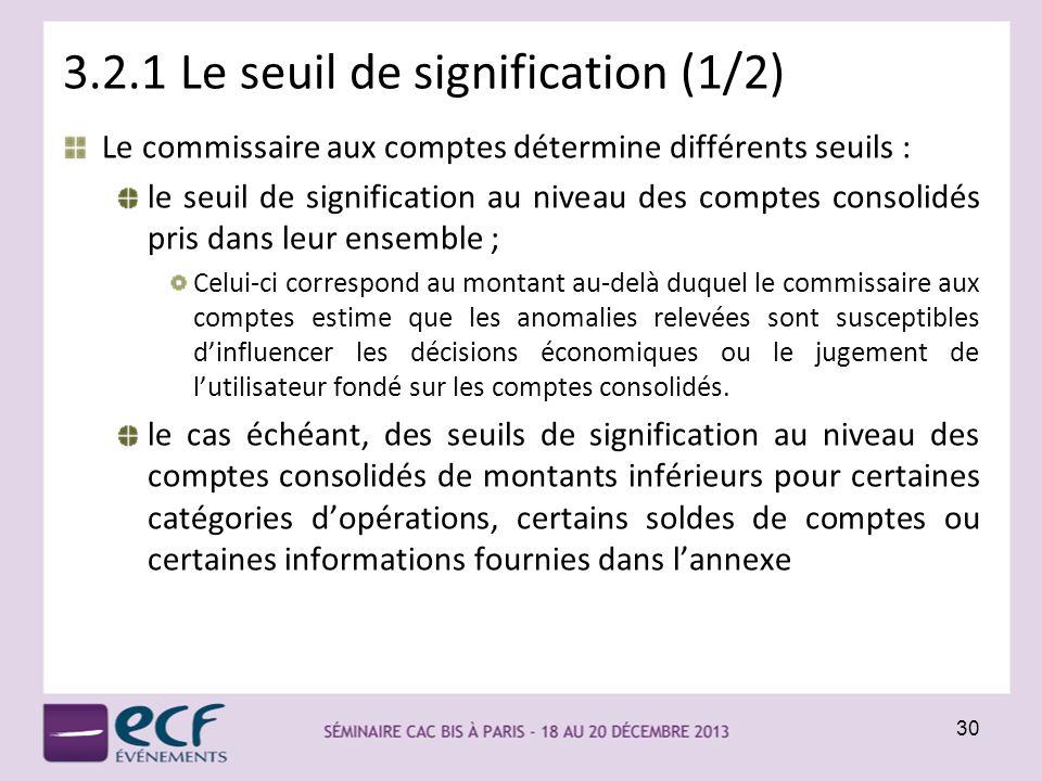 3.2.1 Le seuil de signification (1/2)