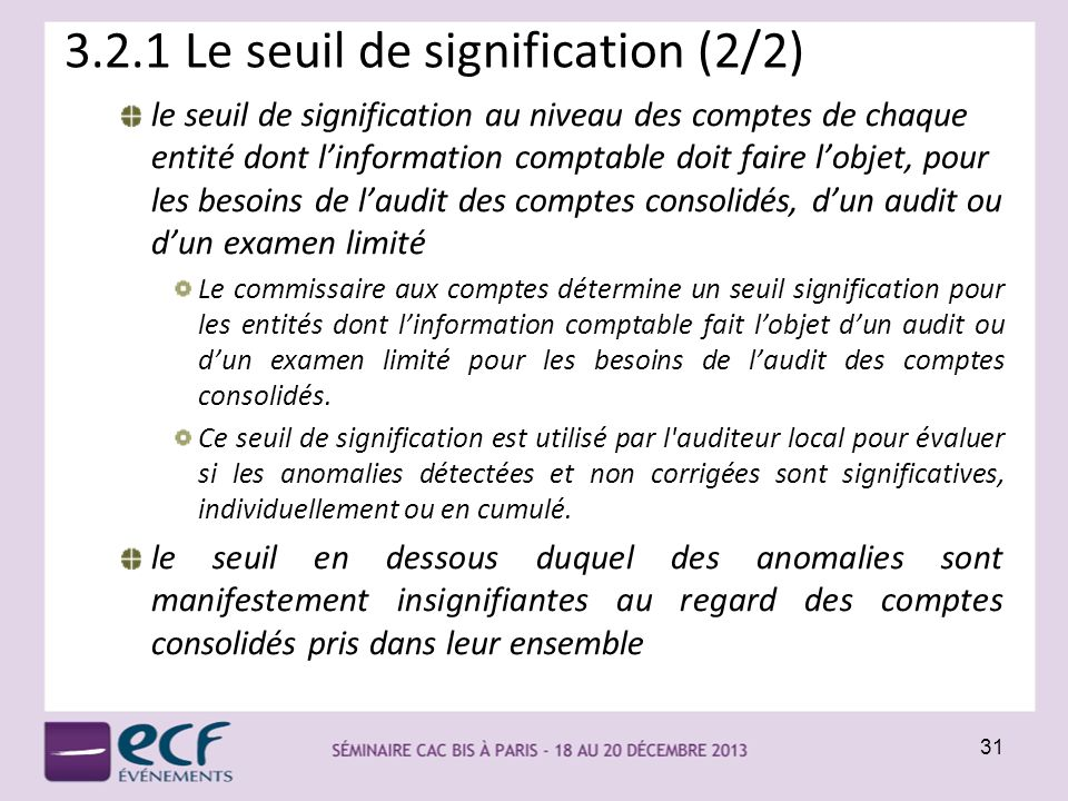 3.2.1 Le seuil de signification (2/2)