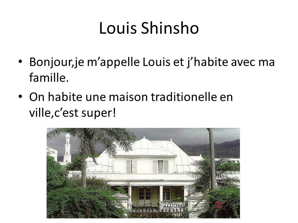 Louis Shinsho Bonjour,je m'appelle Louis et j'habite avec ma famille.