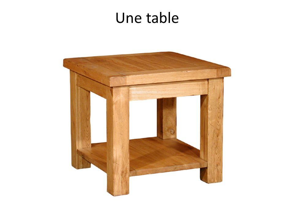 Une table