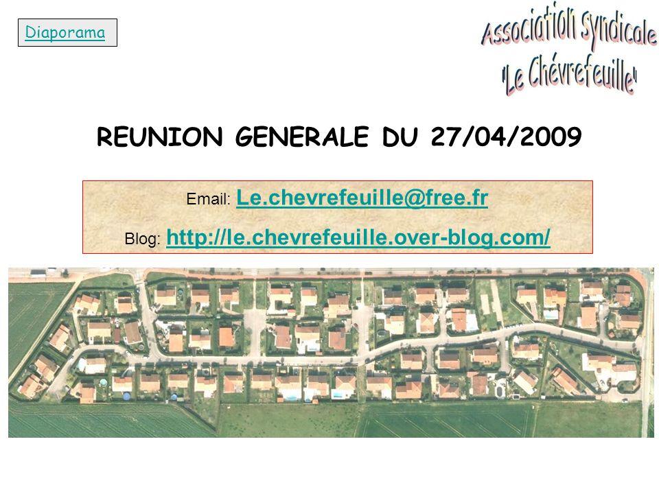REUNION GENERALE DU 27/04/2009 Diaporama