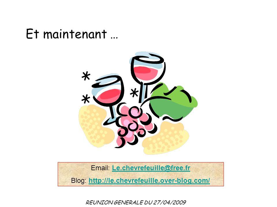 Et maintenant … Email: Le.chevrefeuille@free.fr