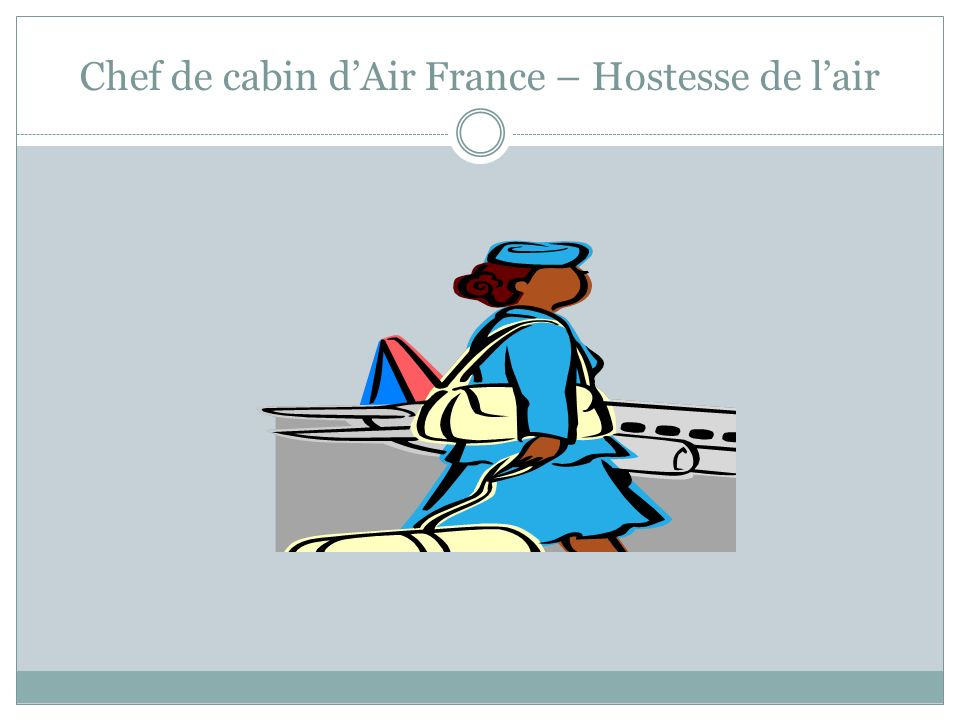 Chef de cabin d'Air France – Hostesse de l'air