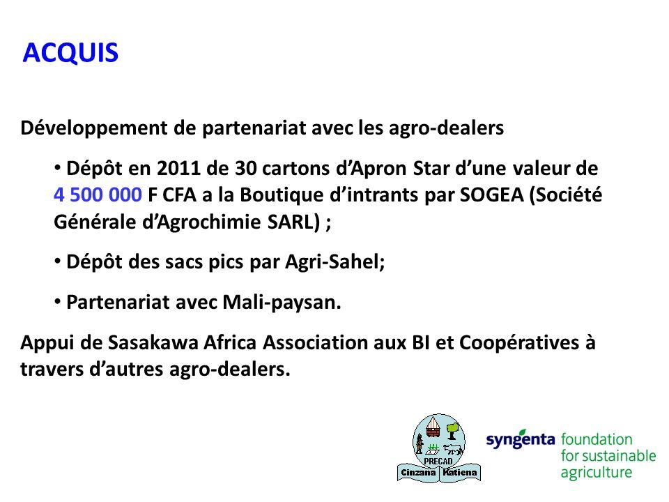 ACQUIS Développement de partenariat avec les agro-dealers