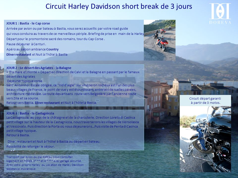 Circuit Harley Davidson short break de 3 jours
