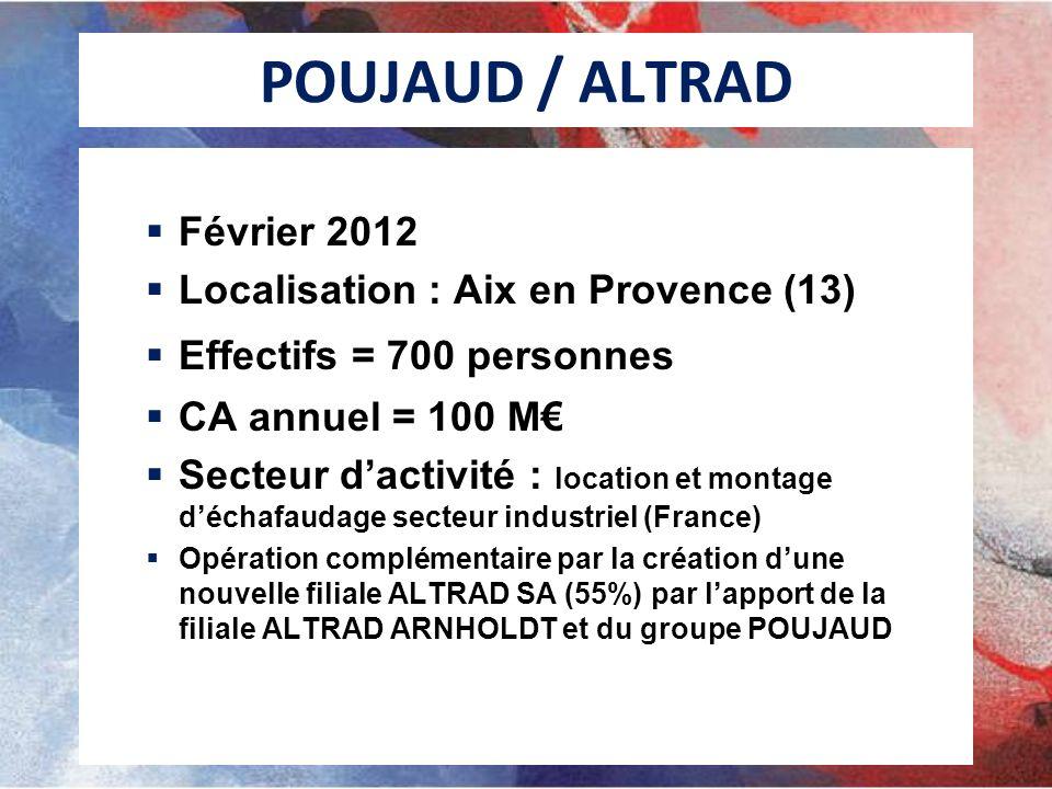 POUJAUD / ALTRAD Février 2012 Localisation : Aix en Provence (13)